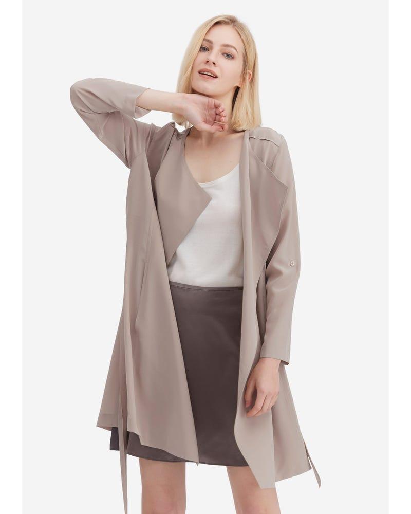Klassisk Långärmad Sidenkläder