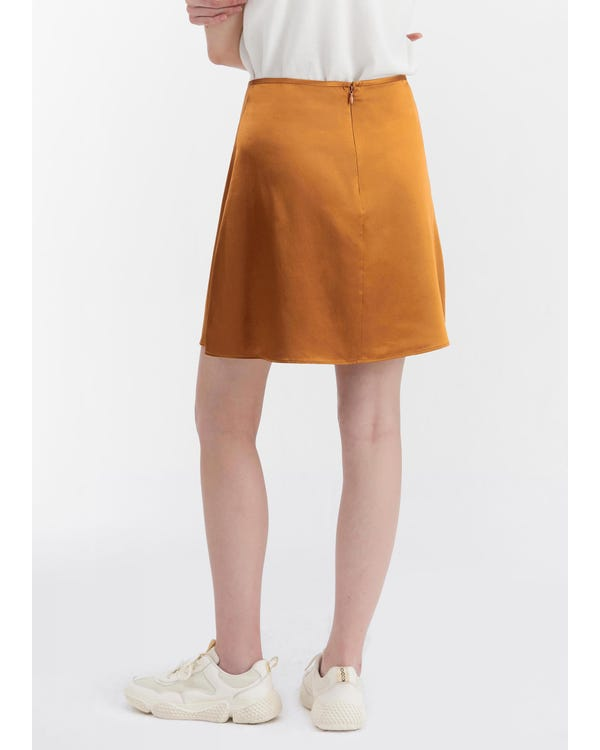 Silk A Line Mini Skirt-hover