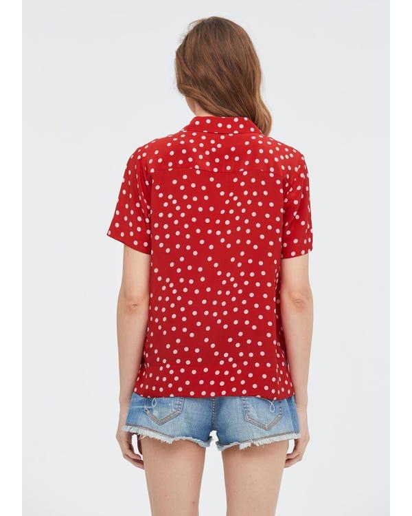 Polka Dot Button Through Shirt-hover
