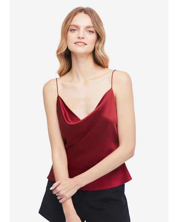 Elegant Silk Cowl Neck Camisole