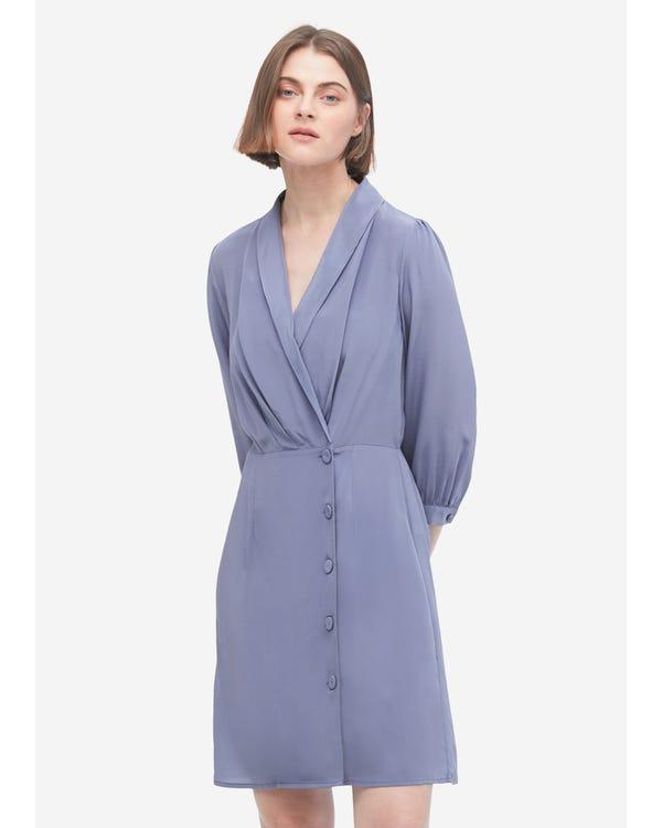 Elegant A Line Silk Dress