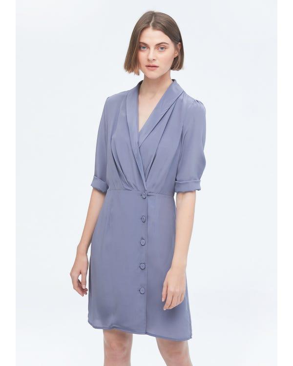 Elegant A Line Silk Dress-hover