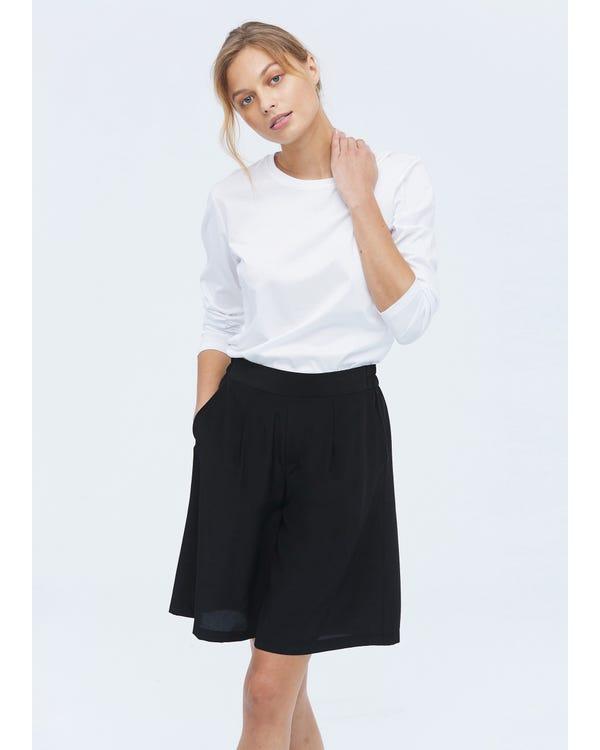 Lösa Shorts I Organisk Silke