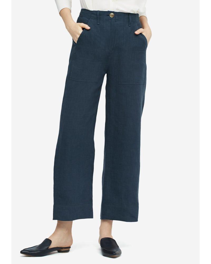 Women Casual Linen Wide-leg Pants