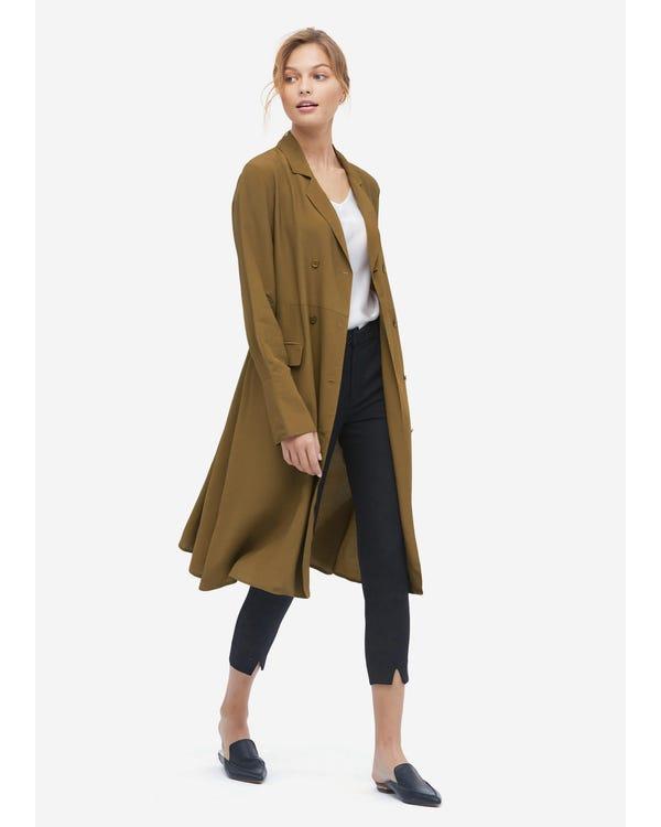 Womens Silk Bow Tie Midi Dress