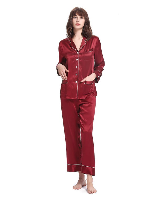 Chic Silk Beauty Sleep Set For Women-hover